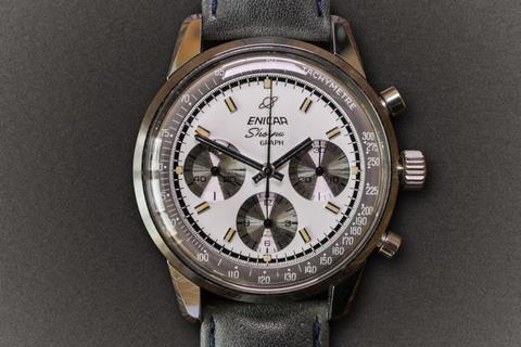 Enicar Graph: Sherpa Graph in white dial
