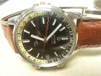 Enicar Sherpa Jet Mark II yellow & black bezel