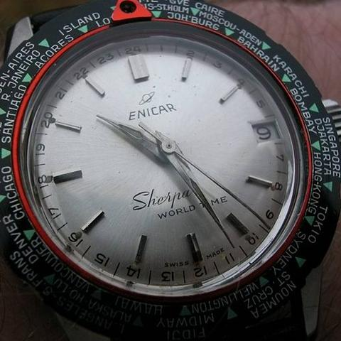 Enicar Sherpa Worldtime Post 1964 model