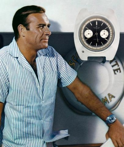 Sean Connery wearing a Breitling Top Time in Thunderball