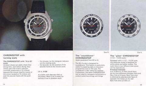 Omega Chronostop 1968 catalog