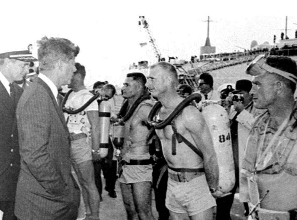 President Kennedy with the US Navy
