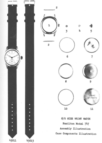 Hamilton 747 parts catalogue: NATO watch strap