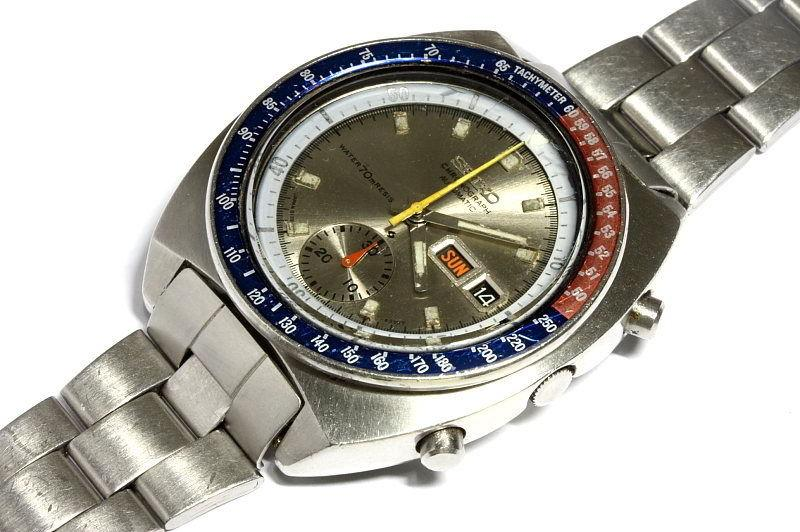 """Seiko 6139-6002 silver dial with """"resist"""" markings"""
