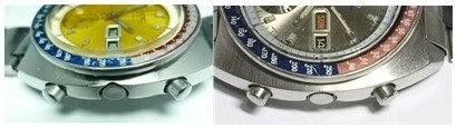 Seiko Pogue notched and non-notched cases