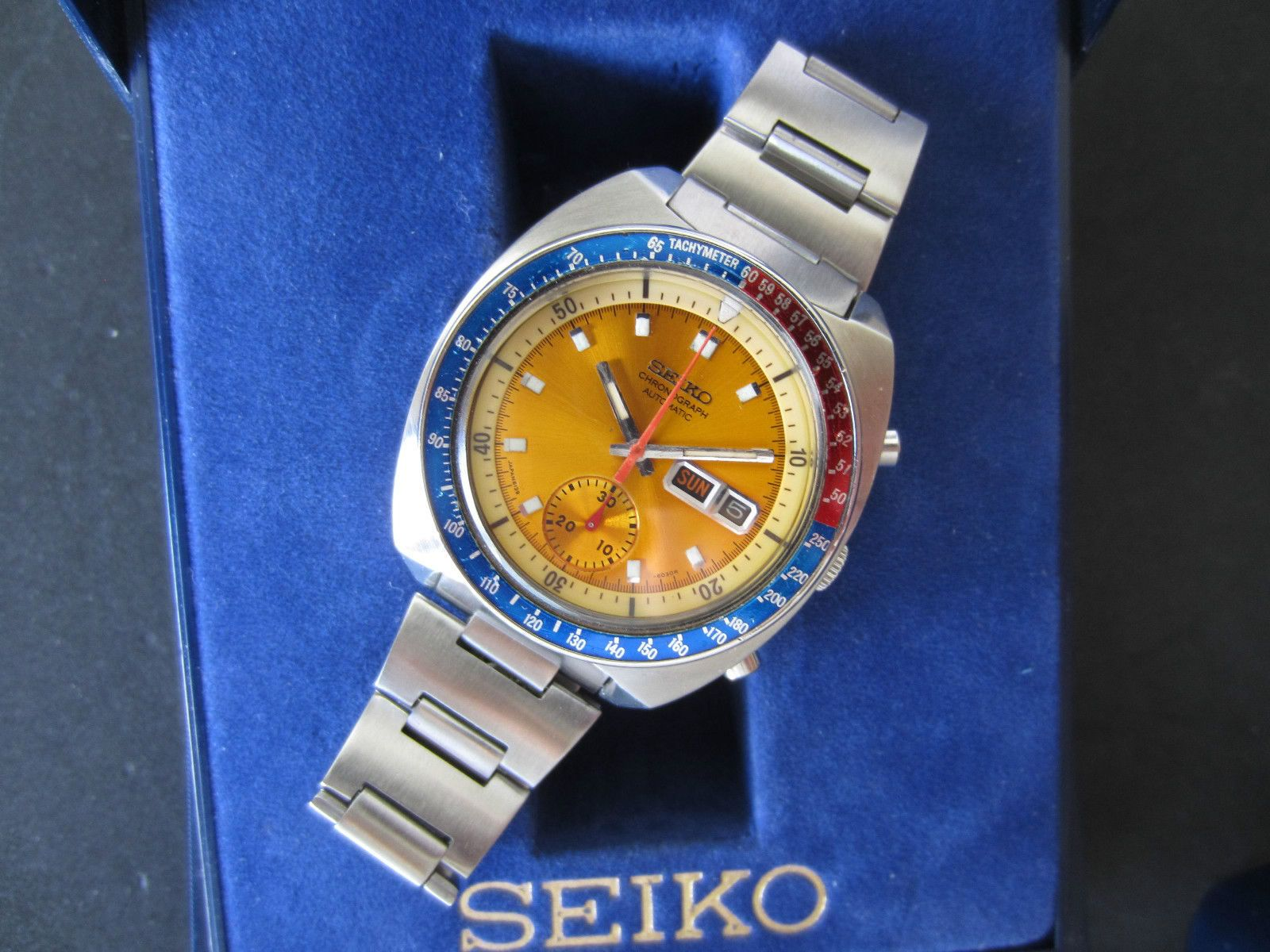 Seiko Pogue in yellow dial and with yellow indicator ring