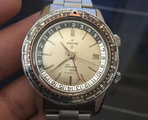 Enicar Sherpa Guide 30 jewels white dial