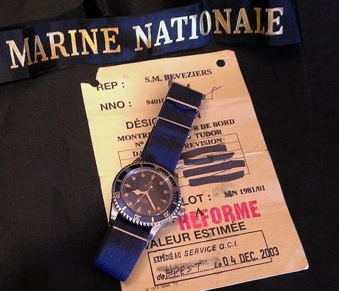 Tudor Submariner Marine Nationale with papers