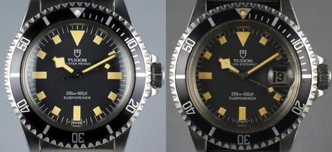 Tudor 9401/0 versus 9411/0 watch face
