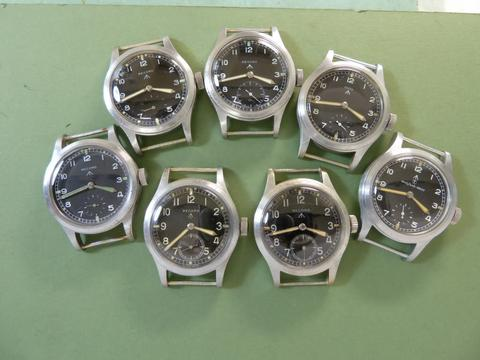 Record WWW dial variations: Dirty Dozen watches