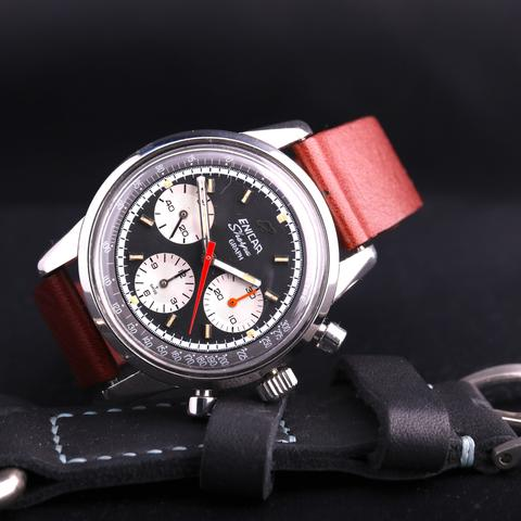 Enicar Graph with a red strap